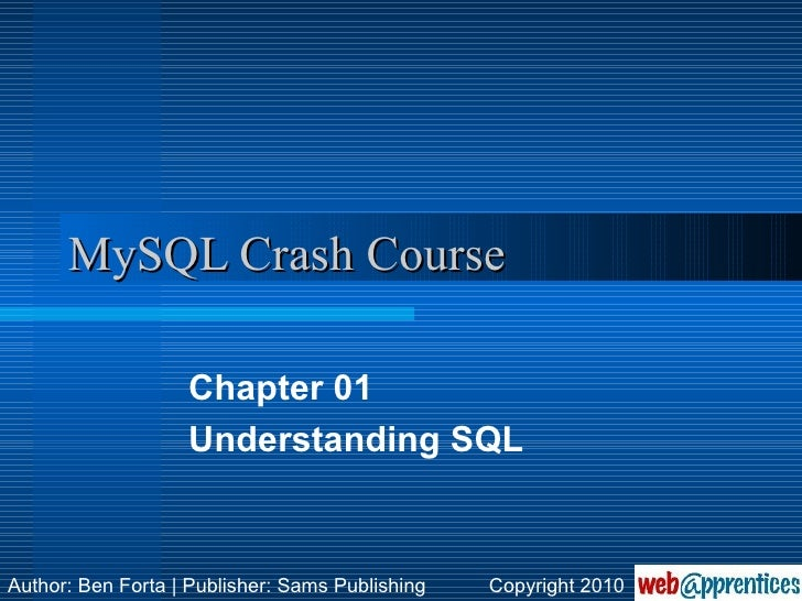 MySQL Crash Course - PDF Free Download
