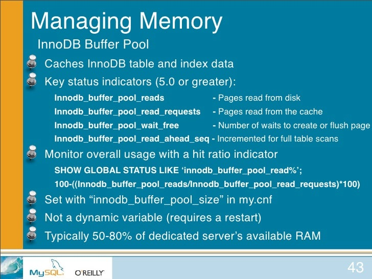 Mysql for oracle dbas for Show buffer pool size