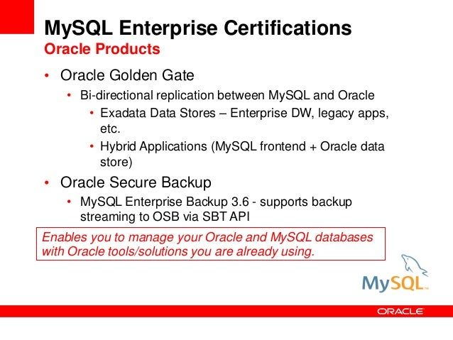 MySQL for Oracle DBA -- Rocky Mountain Oracle User Group
