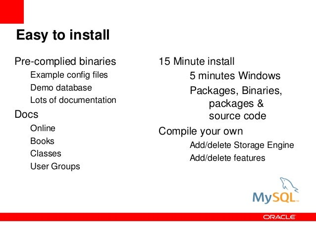 Mysql For Oracle Dba Rocky Mountain Oracle User Group