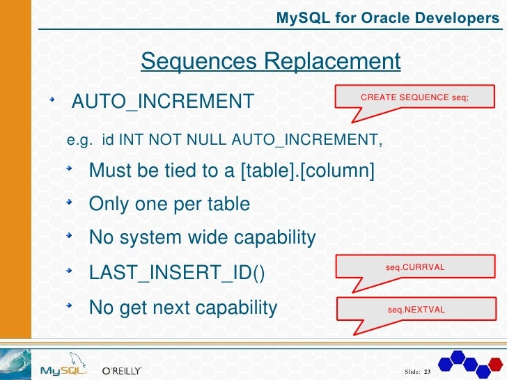 Mysql for oracle developers - Sql create table auto increment ...