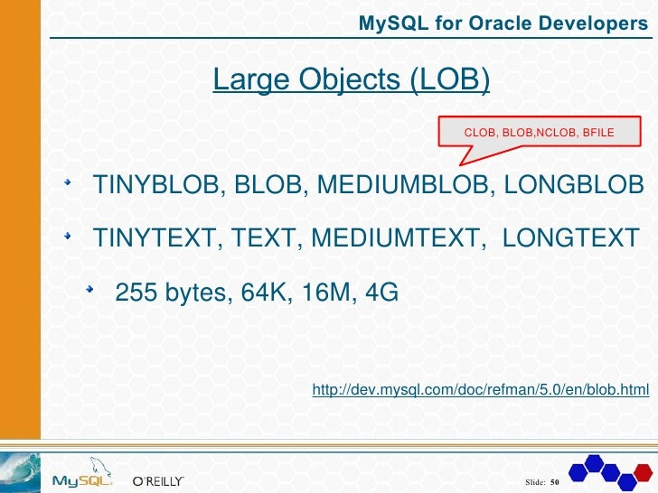MySQL For Oracle Developers