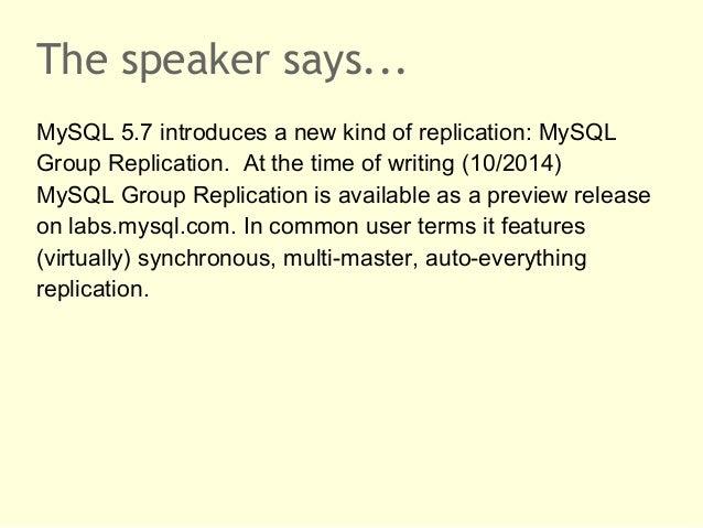 MySQL Group Replication Slide 2