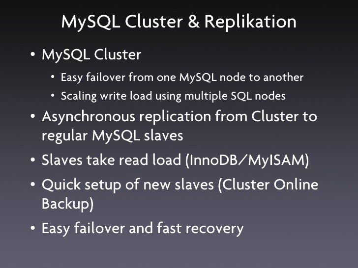Rules of High Availability ●   Prepare for failure ●   Aim to ensure that no important data is lost ●   Keep it simple, st...