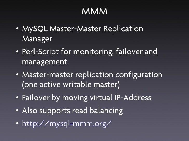 MySQL High Availability Solutions
