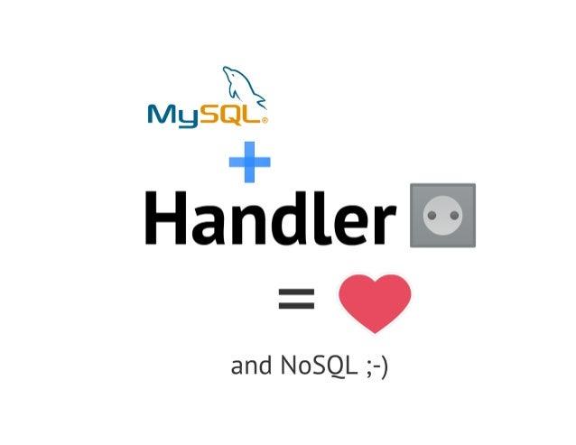 Mysql+handlersocket=nosql