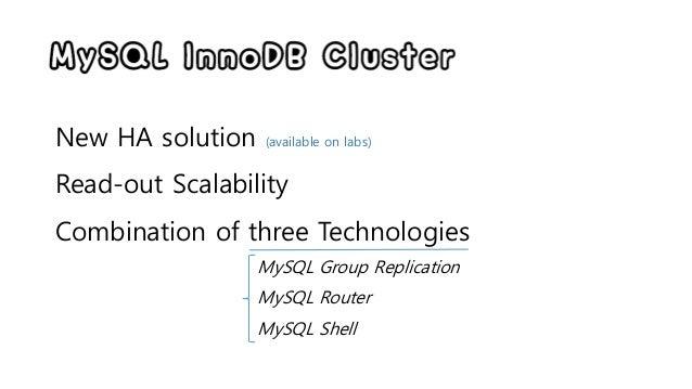 MySQL InnoDB Cluster 미리보기 (remote cluster test) Slide 2