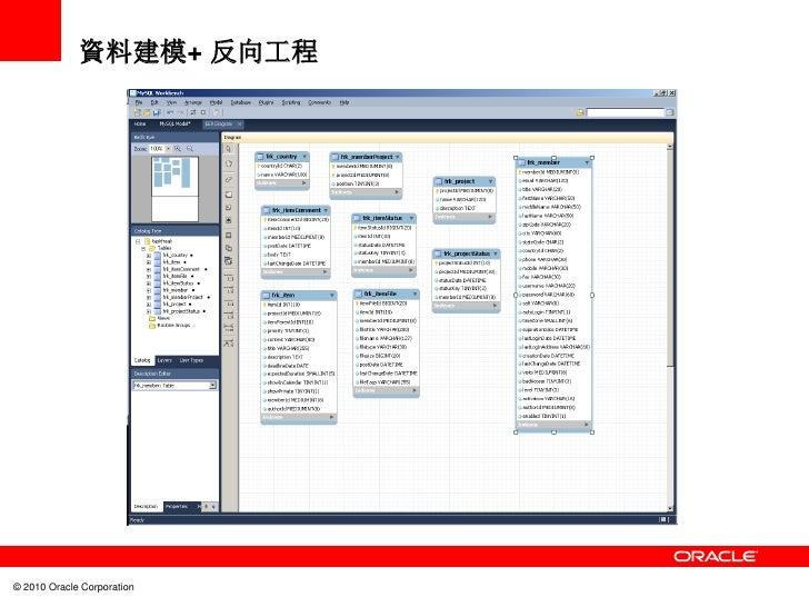 資料建模+ 反向工程© 2010 Oracle Corporation
