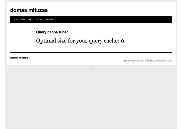 QUERY CACHE TUNING • More seriously though, mutex is still locked even if query_cache_size=0 • Use the following configurat...