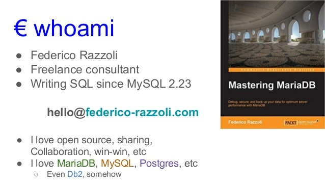 MySQL Query Optimisation 101 Slide 2