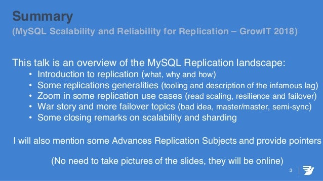 MySQL Scalability and Reliability for Replicated Environment Slide 3