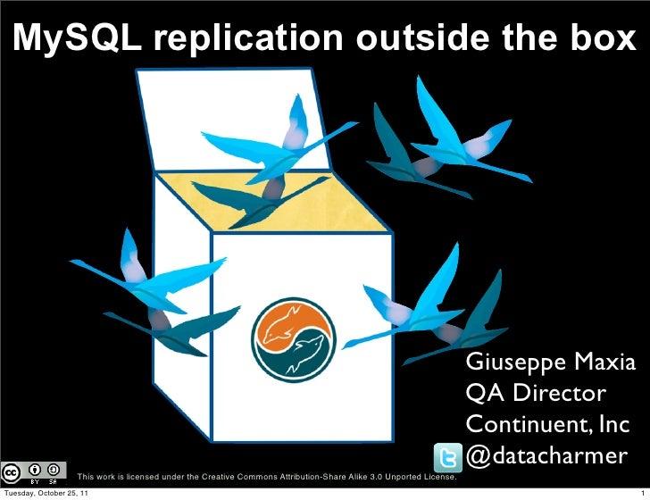 MySQL replication outside the box                                                                                         ...