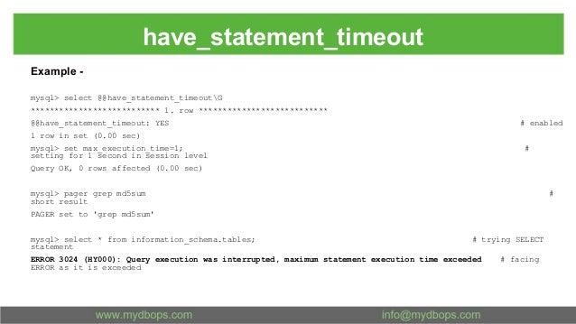 MySQL Timeout Variables Explained