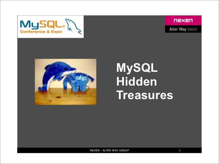 MySQL                Hidden                Treasures    NEXEN - ALTER WAY GROUP    1