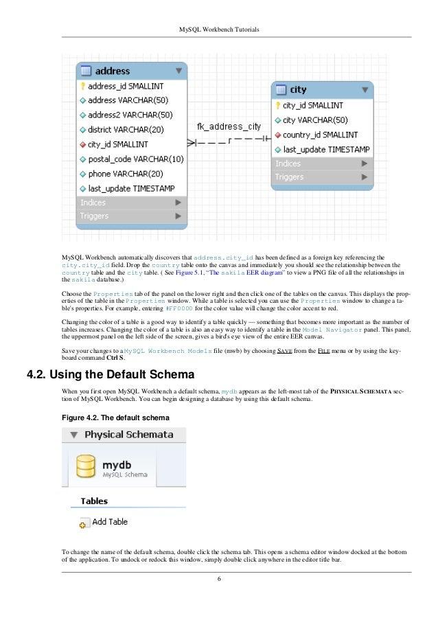 how to create database in mysql workbench