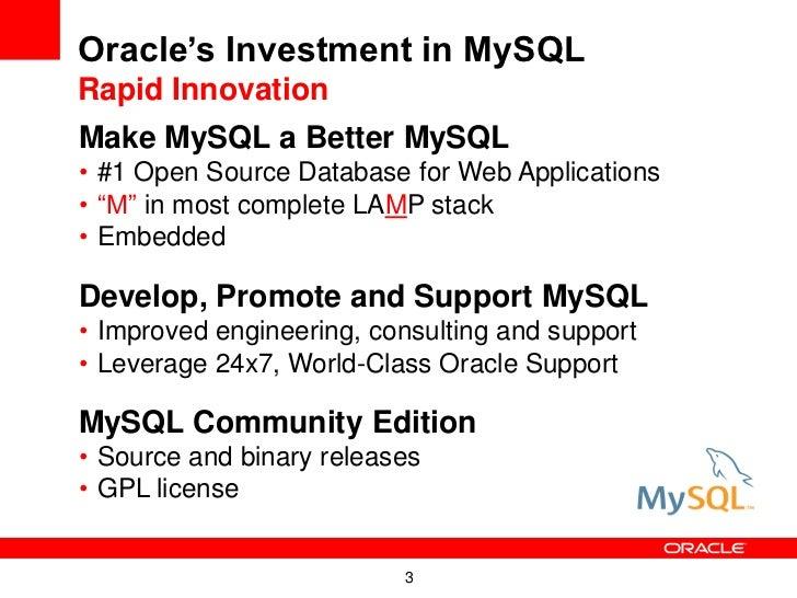 Playing in the Same Sandbox:  MySQL and Oracle Slide 3