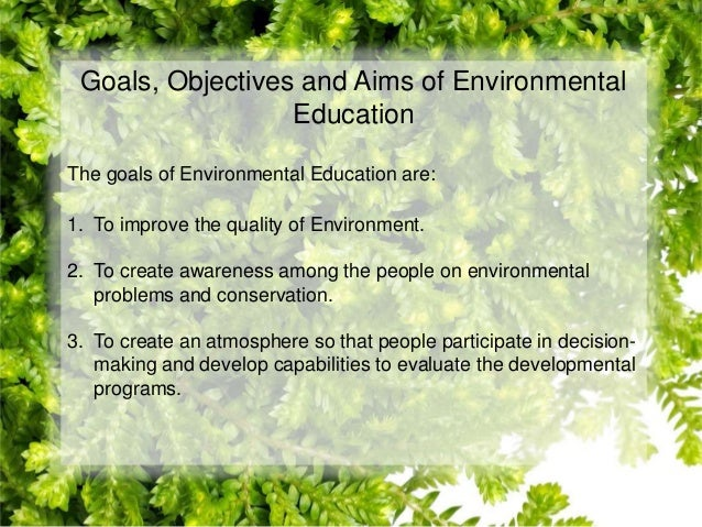 examples of educational goals essays
