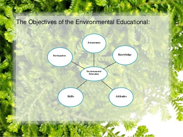 objectives of environmental education pdf