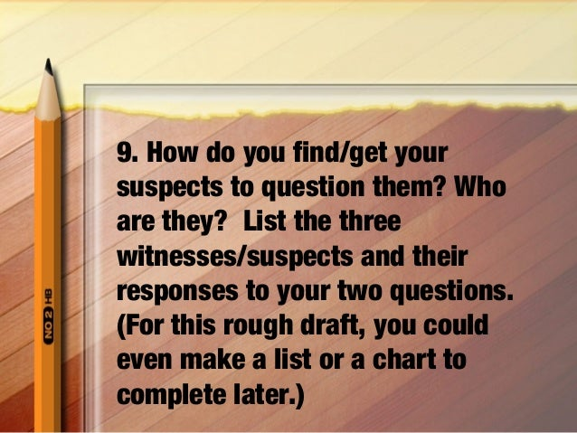 10 rules of mystery writing activities