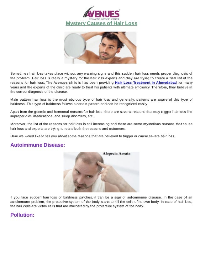 Heres What We Know About Causes Of >> Mystery Causes Of Hair Loss