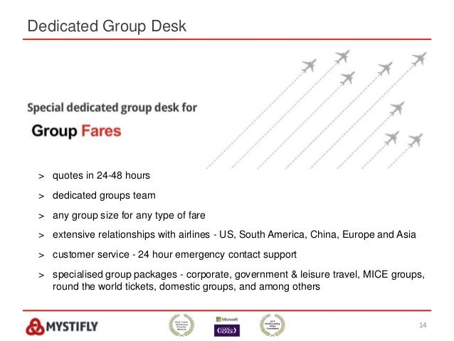 Dedicated Group Desk 14 > quotes in 24-48 hours > dedicated groups team > any group size for any type of fare > extensive ...