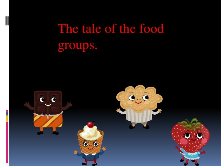 The tale of the food groups.<br />