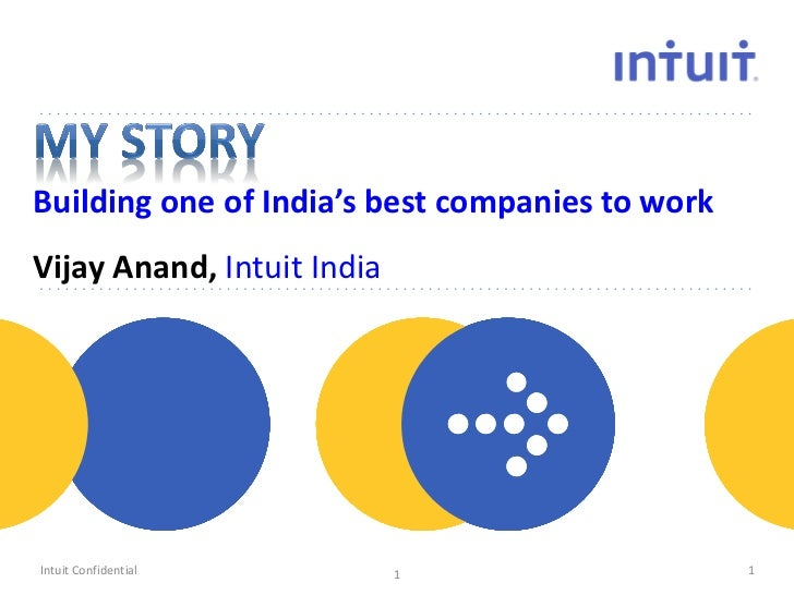 Building one of India's best companies to workVijay Anand, Intuit India                      peopleIntuit Confidential    ...