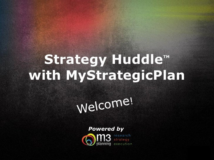My strategicplan.strategyhuddle.042810