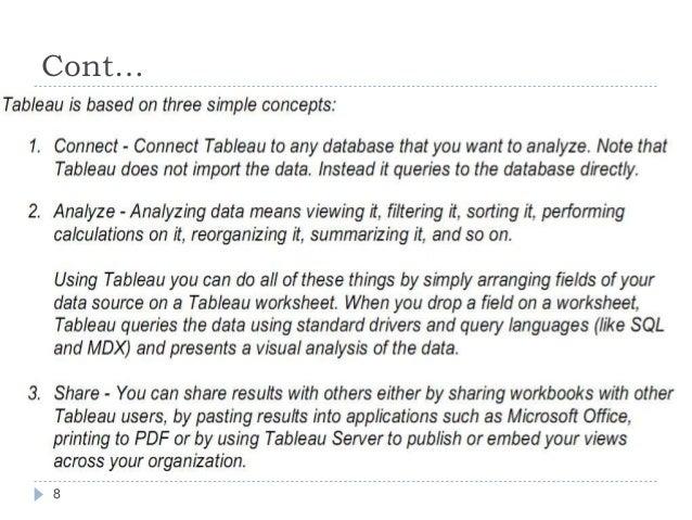 My tableau – Analyzing Data Worksheet