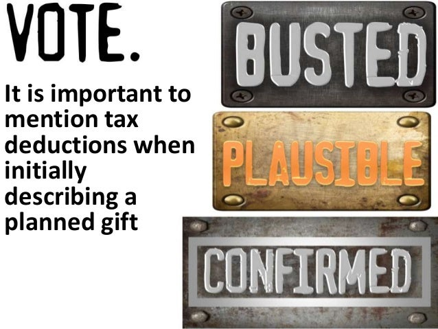 Mentioning tax deductions  increases charitable interest  Interested  Now  50%  33%  31%  Will Never  Be  Interested  8%  ...