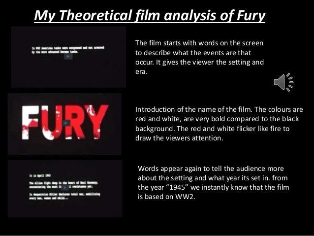 My theoretical film analysis of fury