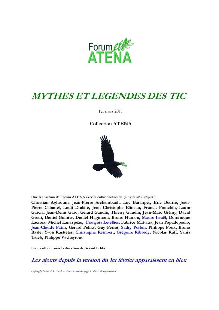 MYTHES ET LEGENDES DES TIC                                                         1er mars 2011                          ...