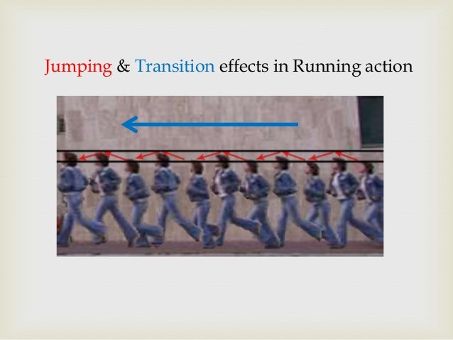 Jumping & Transition effects in Running action