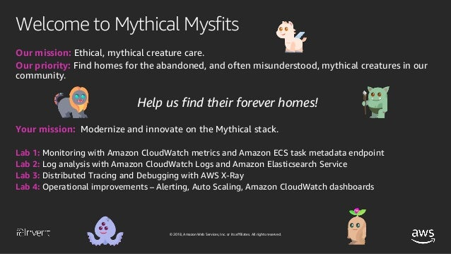 Mythical Mysfits: Management and Ops with AWS Fargate (CON322-R1) - A…