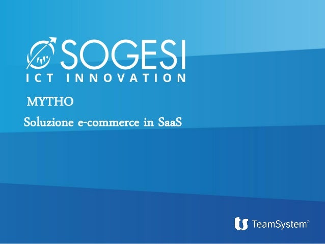 MYTHO Soluzione e-commerce in SaaS