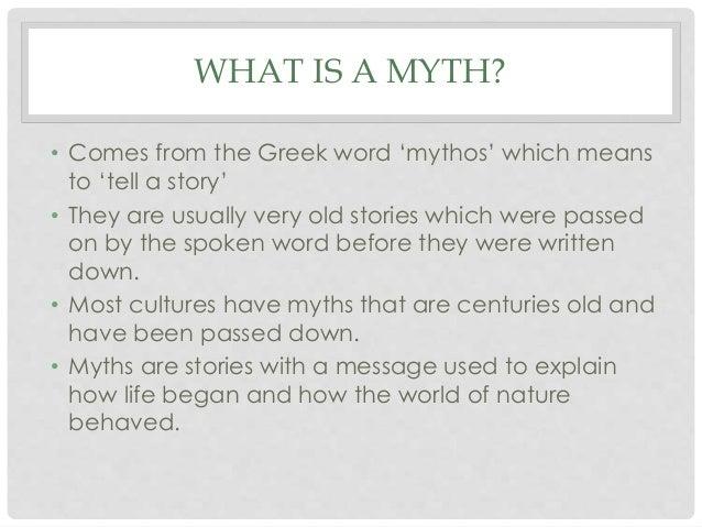 Mythology Introduction