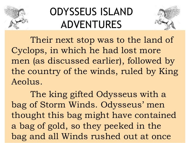 A Summary Of Odyssey By Homer