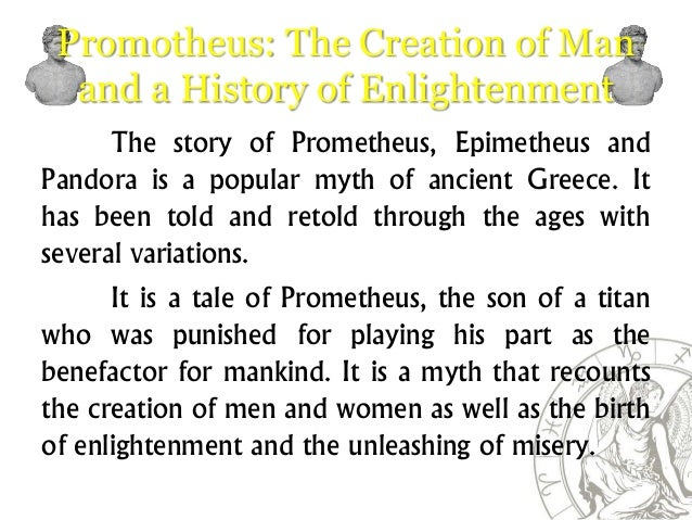 Greek Creation Myth Promotheus And 5 Ages