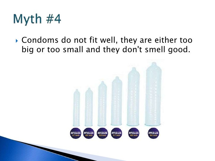 Thought differently, the condom is too big remarkable