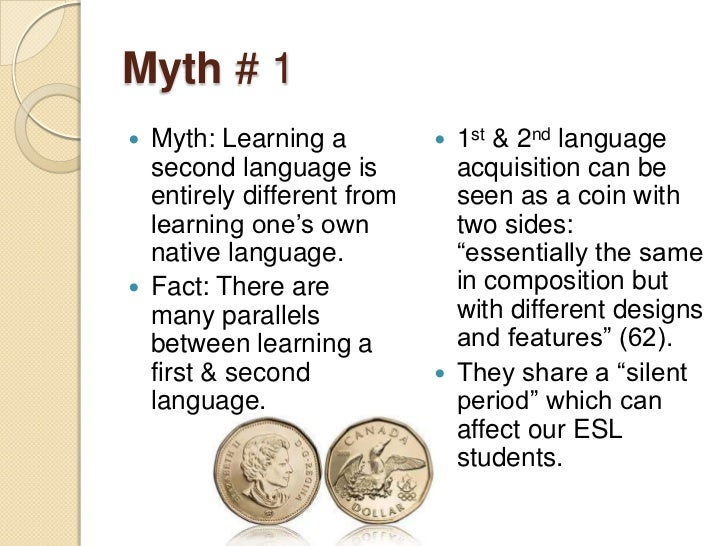 Myths and Misconceptions about Second Language Learning