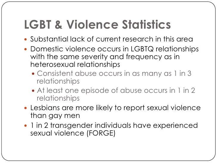Domestic violence statistics homosexual relationships
