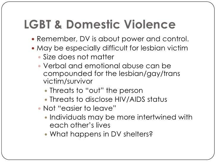 Statistics on same sex domestic violence