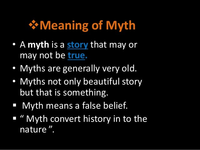 The importance of mythology in defining a culture