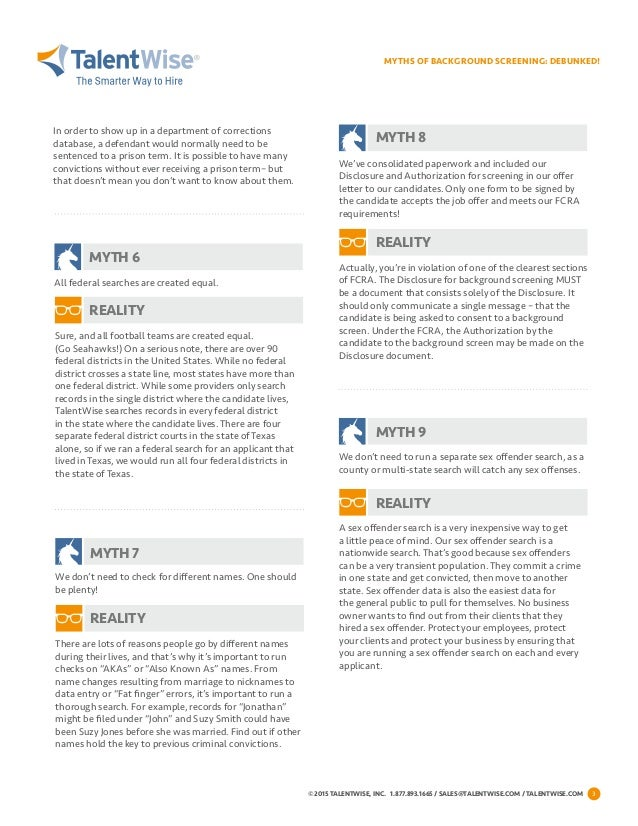 10 Common Myths Of Background Screening [White Paper]