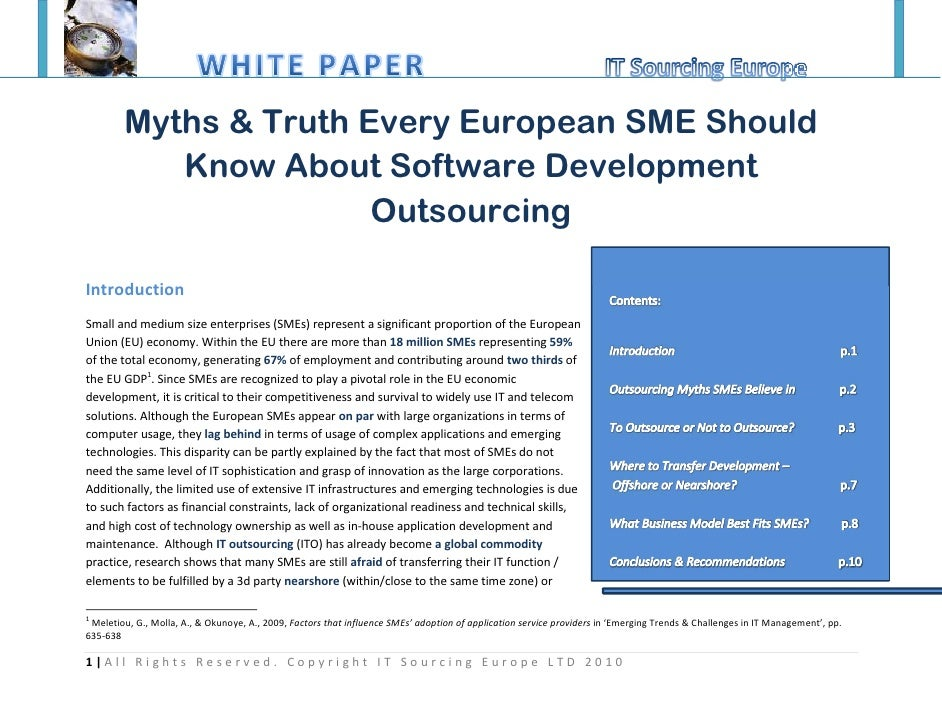 Myths and Truth Every European SME Should Know About Software Development Outsourcing