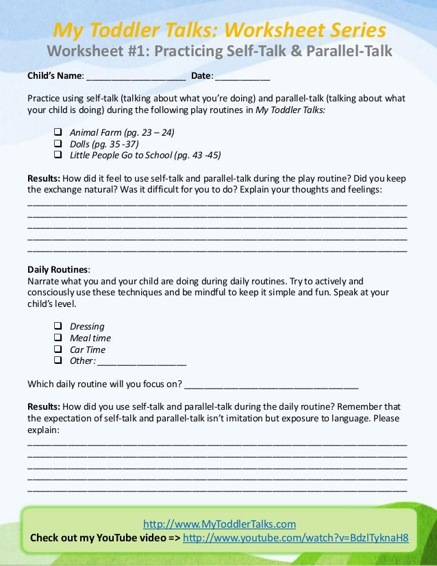 self talk worksheet Termolak – Negative Self Talk Worksheet