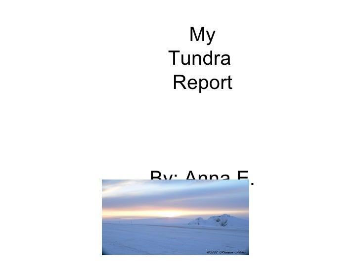 My Tundra  Report     By: Anna E.