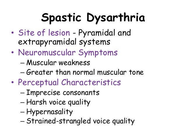 emission 12 spastic dysarthria