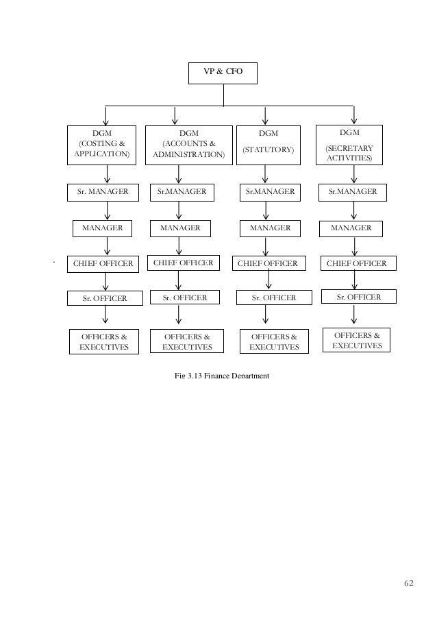 Organisation study in v guard