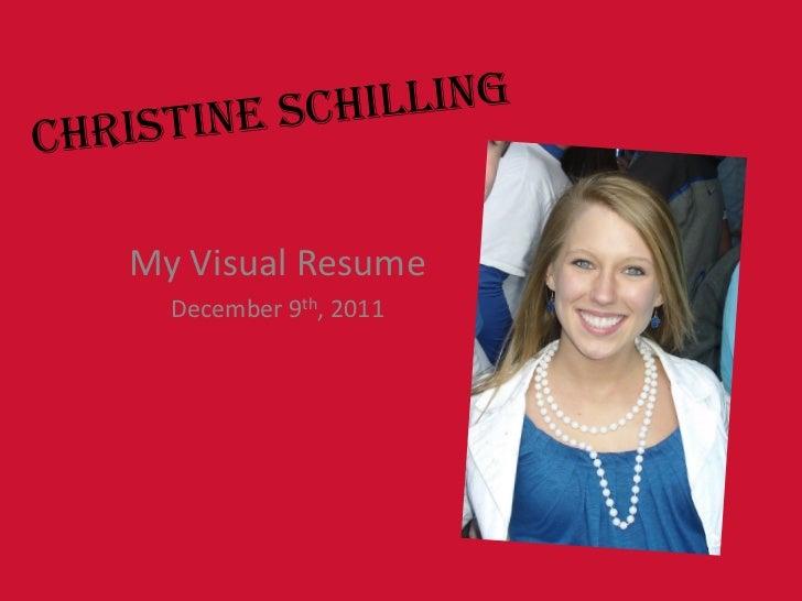 My Visual Resume  December 9th, 2011